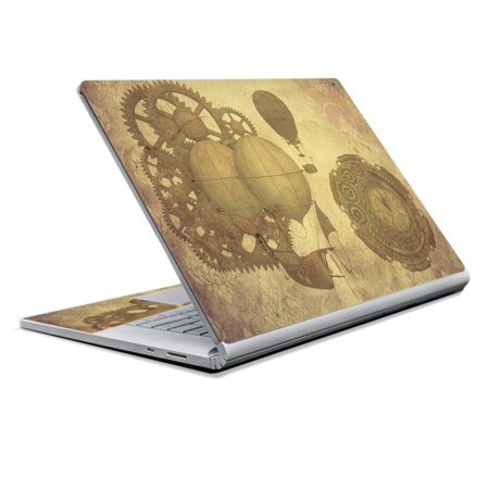Skin for Microsoft Surface Book 2 (2017) - Steam Punk Paper| MightySkins Protective, Durable, and Unique Vinyl Decal wrap cover | Easy To Apply, Remove, and Change Styles | Made in the USA - Steam Sales 2017 Halloween