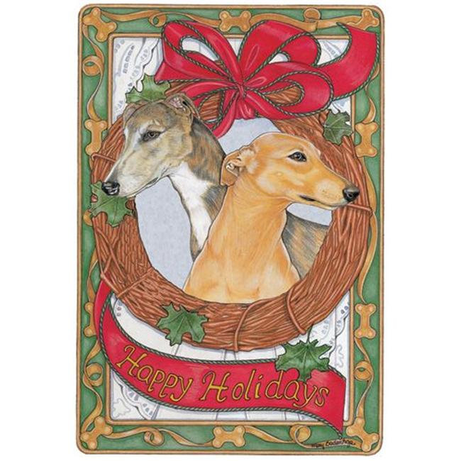 Pipsqueak Productions C972 Greyhound Holiday Boxed Cards