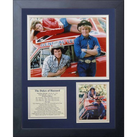 Legends Never Die Dukes of Hazzard General Lee Framed Photo Collage, 11