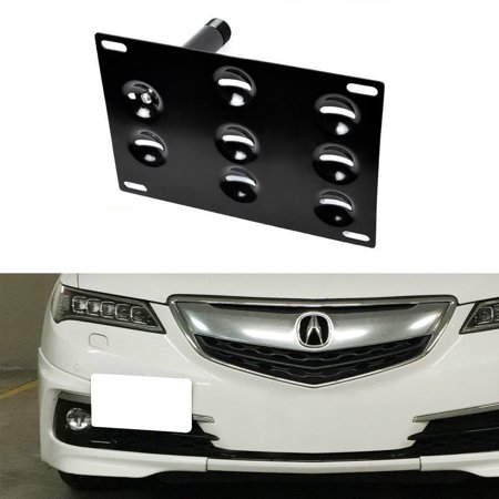 iJDMTOY JDM Style Front Bumper Tow Hole Adapter License Plate Mounting Bracket For 2015-up Acura (2008 Honda Pilot Front License Plate Bracket)