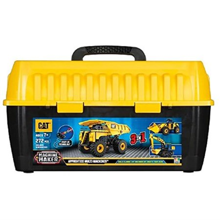 Toy State Caterpillar CAT Apprentice Ultimate Machine Maker Dump Truck with Wheel Loader and Excavator Construction Building (Best Truck Wheels For The Money)
