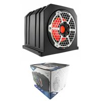 "DS18 NXL10SUBLD 10"" Black ATV Sub woofer Box Marine RGB LED 4 Ohm 700W"