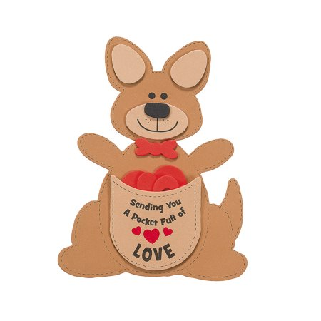 Valentine Crafts For Adults (IN-48/7711 Pocket Full of Love Kangaroo Valentine Craft)