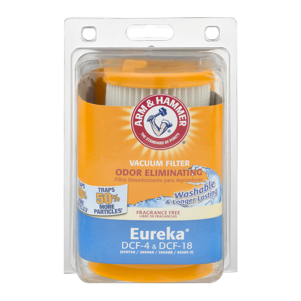 Arm & Hammer Odor Eliminating Vacuum Filter Eureka DCF-4 & DCF-18, 1.0 CT