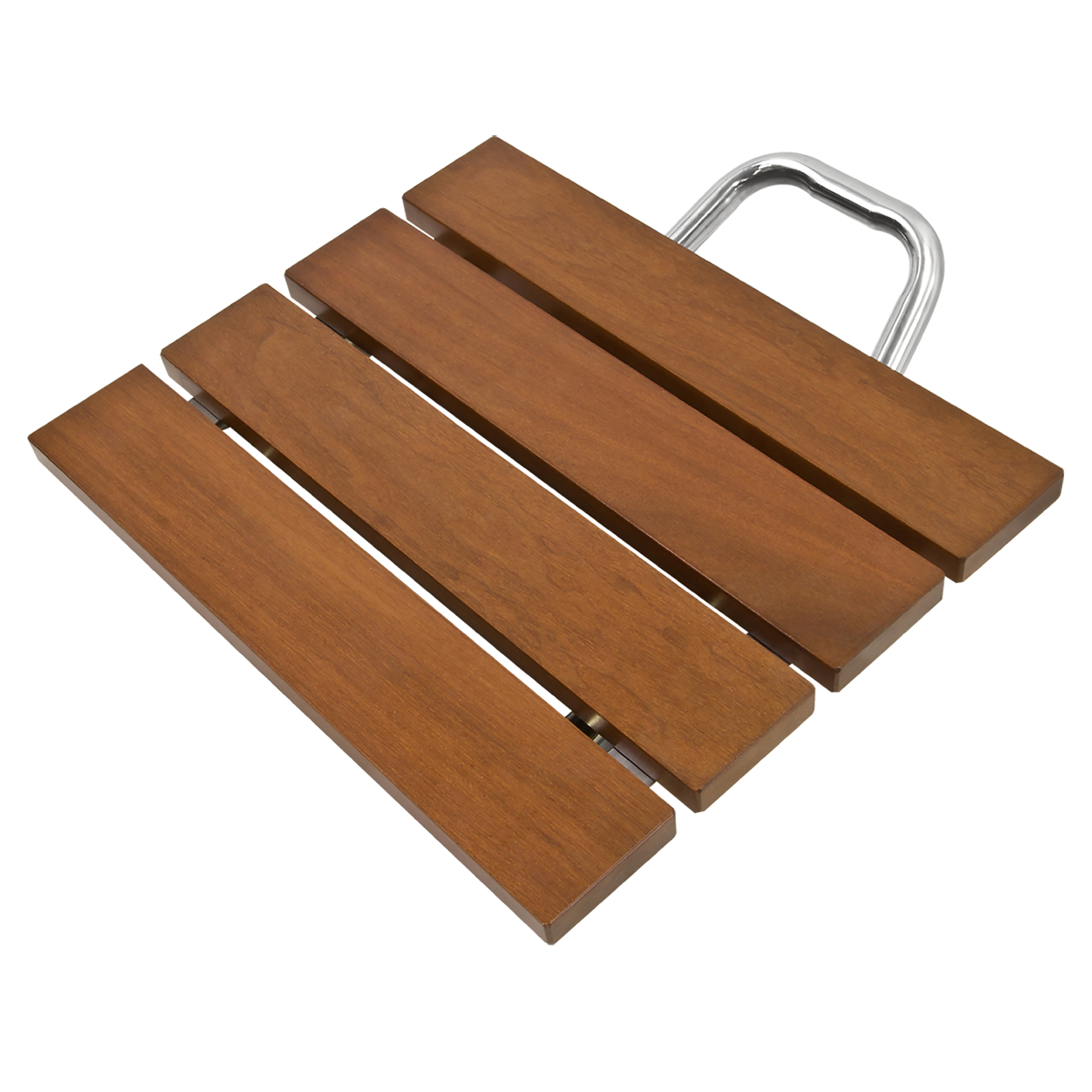Best Choice Products Folding Wood Shower Seat Bench w/ Wall Mount ...