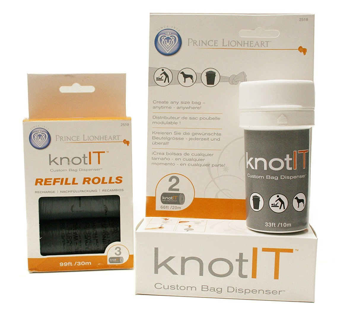 Prince Lionheart Knot IT Bag Dispenser and Knot IT Bag Refills