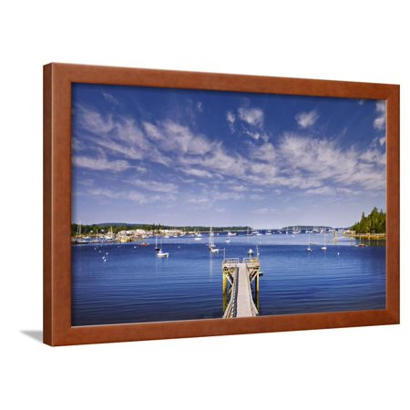 Pier near Southwest Harbor Framed Print Wall Art By Jon Hicks ()
