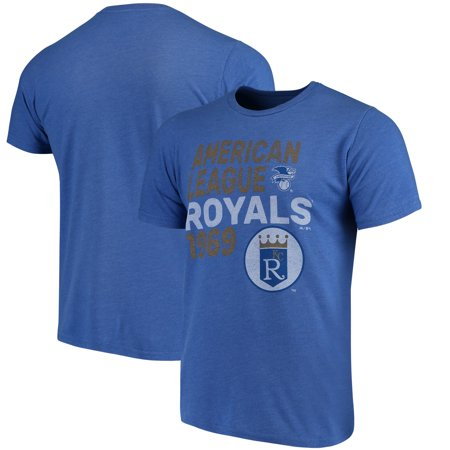 official photos b672b 0d4a2 Kansas City Royals Majestic Threads Throwback Cooperstown Collection  Tri-Blend T-Shirt - Royal