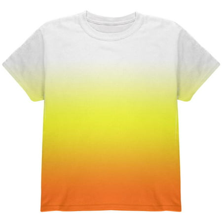 Halloween Candy Corn Ombre Costume All Over Youth T Shirt - Rock Candy Halloween Flash