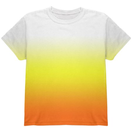 Halloween Candy Corn Ombre Costume All Over Youth T Shirt](Halloween Popcorn Candy Corn Hands)