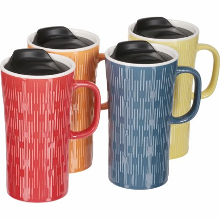 Mainstays Travel Mugs, Set of 4