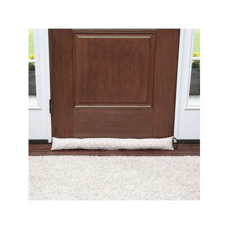 Home District Jacquard Handled Draft Dodger - Weighted Door/Window Breeze, Bug and Noise Guard Stopper Blocker -36