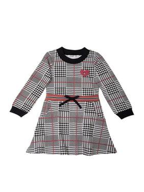 Kensie Girls 7-16 Long Sleeve Plaid Fashion Dress