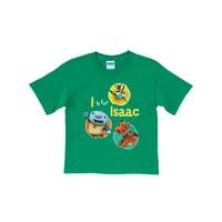 Personalized Wallykazam Silly Circles Boys' Green T-Shirt