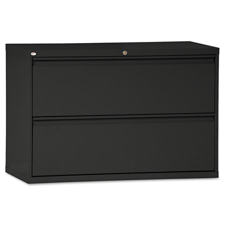 Alera 2 Drawers Lateral Lockable Filing Cabinet, Black