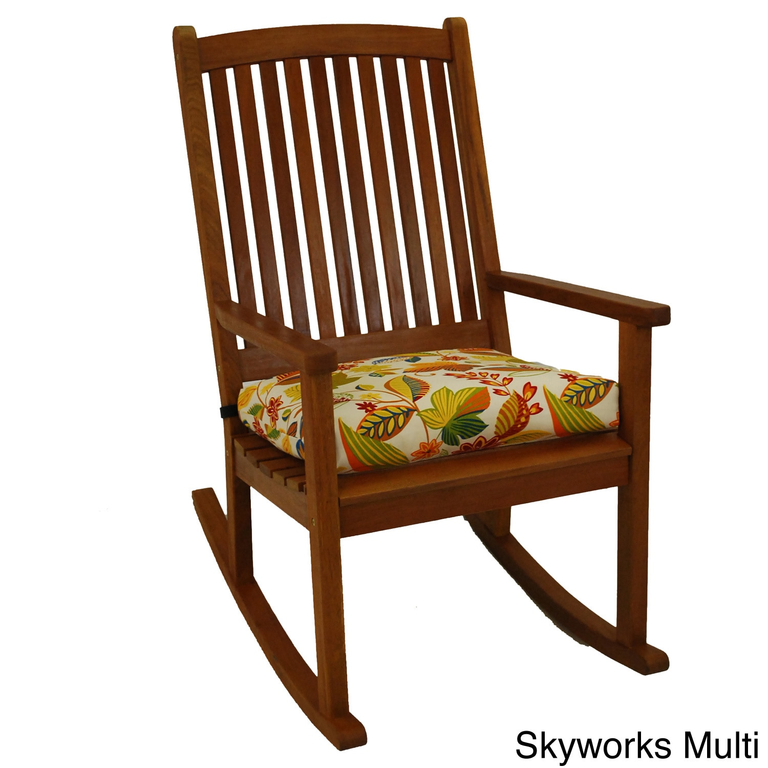 Blazing Needles Patterned All-weather Outdoor Rocker Chair Cushion Skyworks Multi (REO-26)