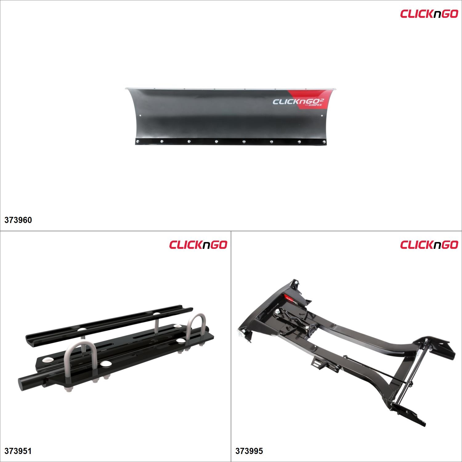 ClickNGo GEN 1.5 ATV Plow kit 50\ by ATV Snowplows