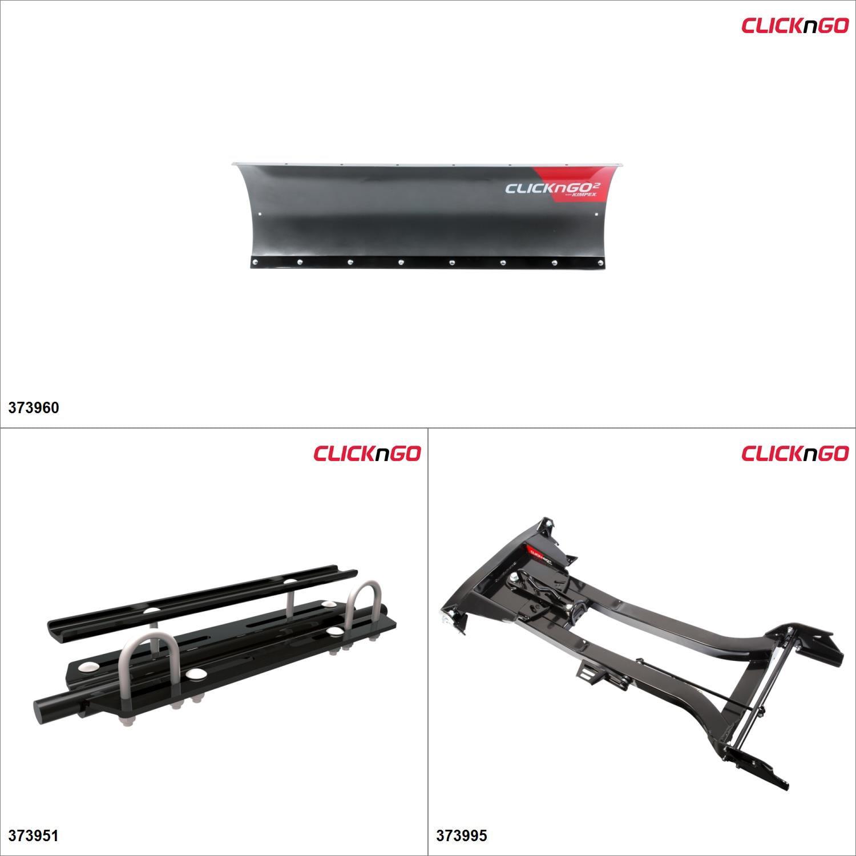 "ClickNGo GEN 1.5 ATV Plow kit - 50"", Arctic Cat 500 2002-09, 14-17 Black / Titanium Gray  #KK00000144_5"