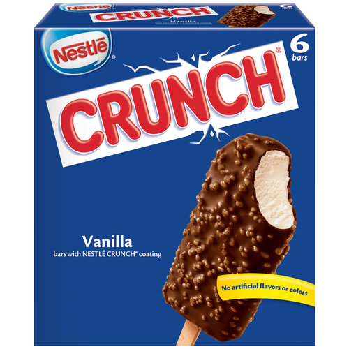Nestle Crunch Frozen Dairy Dessert Bars, 6 count