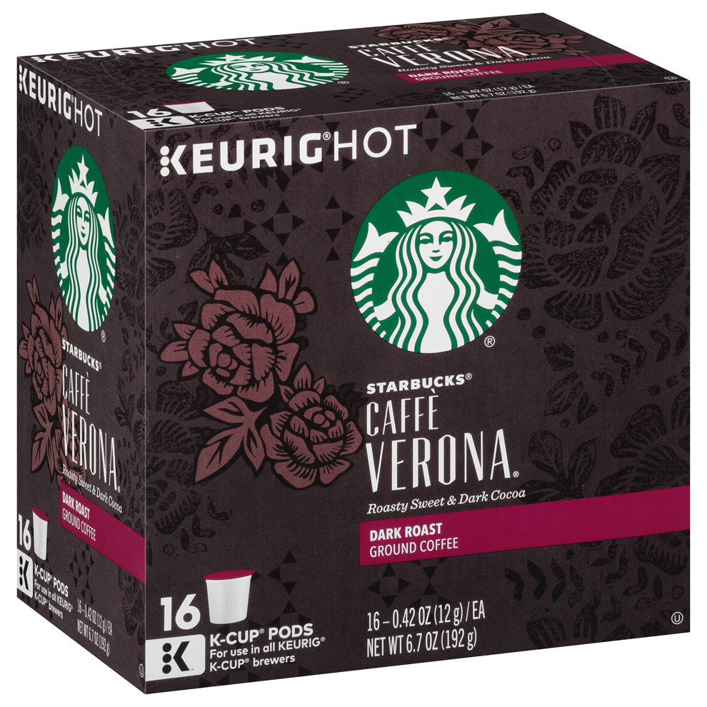 Starbucks Coffee Caff Verona Blend Coffee 128 K-Cup Pods
