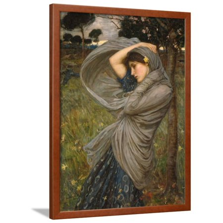 Boreas Framed Print Wall Art By John William Waterhouse