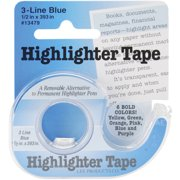 "Highlighter Tape .5""X393""-Blue"