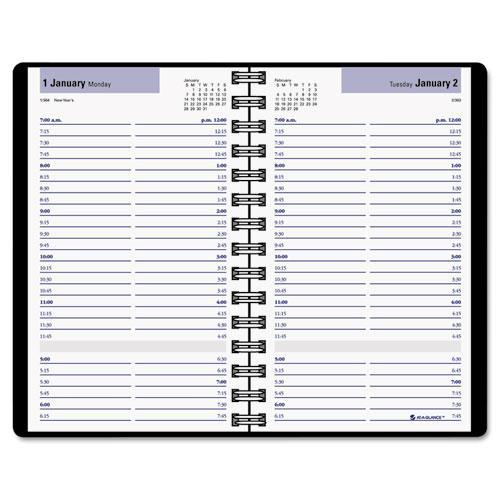 DayMinder Daily Appointment Book with15-Minute Appointments, 8 x 4 ...