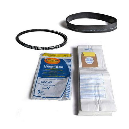 Hoover Windtunnel Upright Type Y Vacuum Generic 9 Bags With Self Propelled Belts Fits Model U6423900 U64019rm U6425900