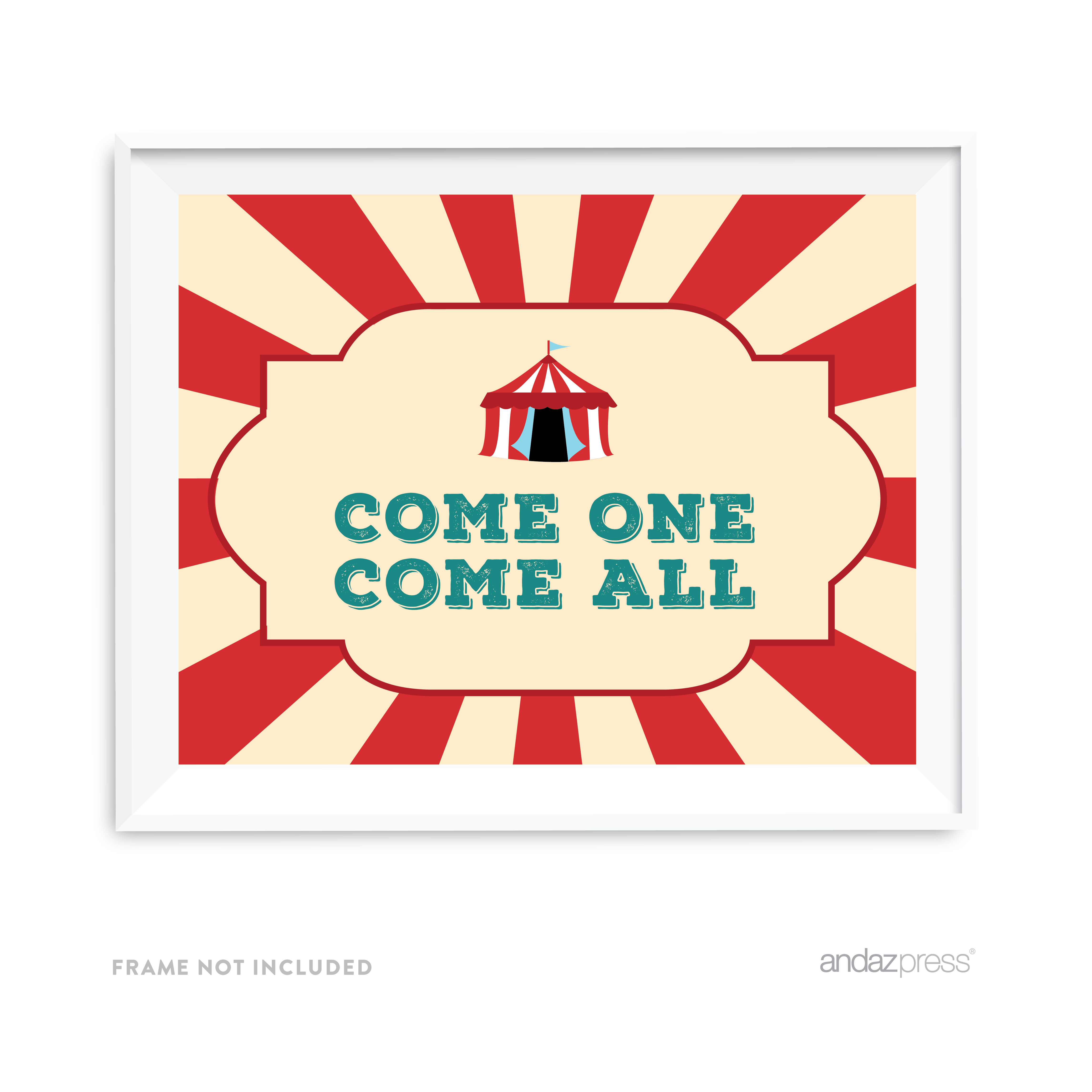 Come One Come All Carnival Circus Birthday Party Signs