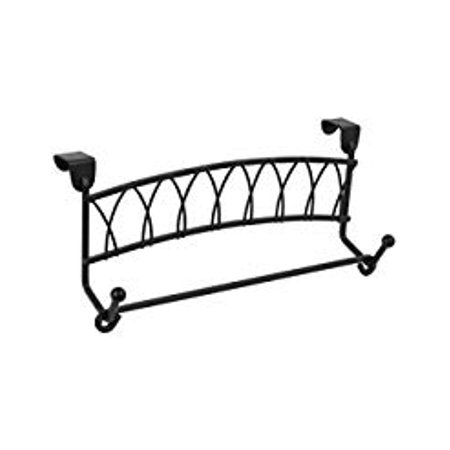 Over Twist (Spectrum Diversified Twist Towel Bar Over the Cabinet Door Black )