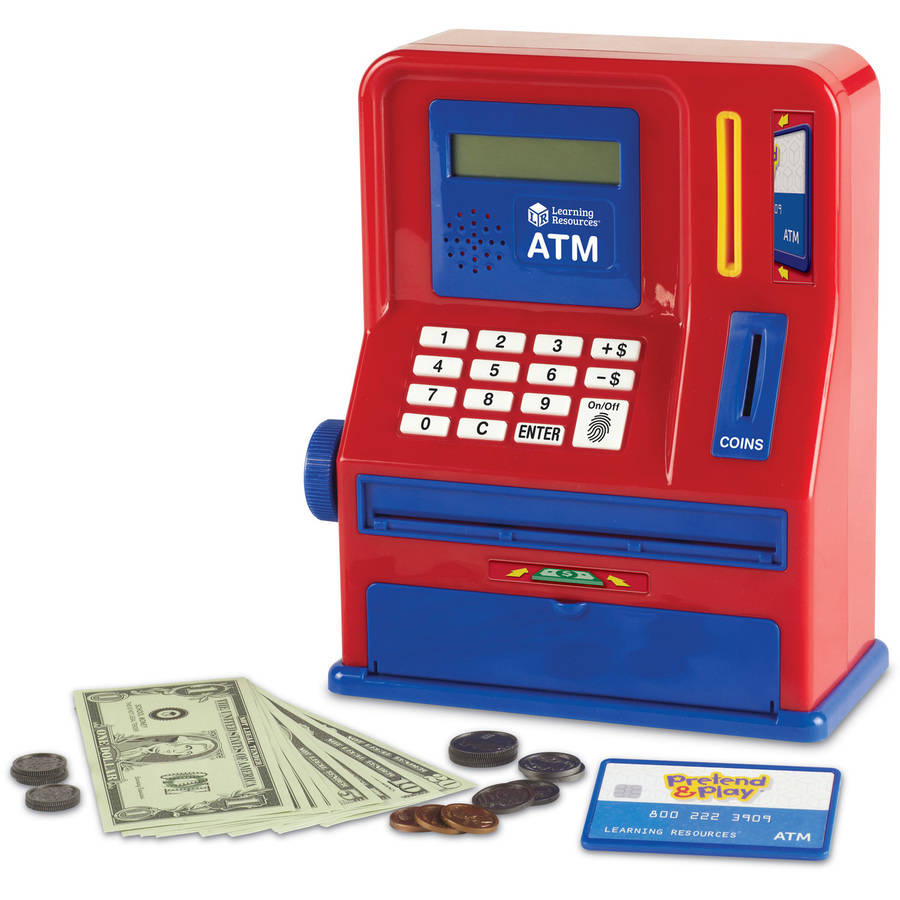 Learning Resources Pretend & Play Teaching ATM Bank