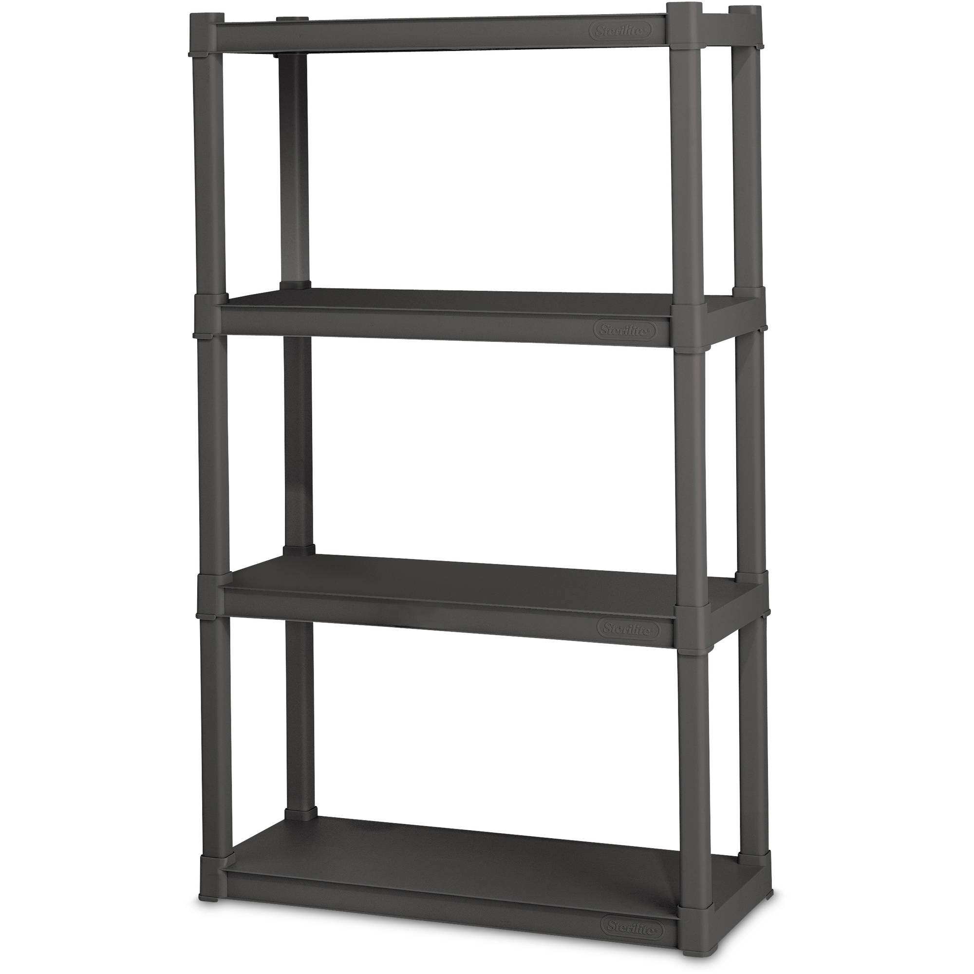 Sterilite 4 Shelf Unit, Flat Gray