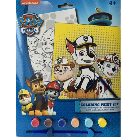 Paw Patrol Coloring Paint Set includes: 2 coloring sheets, 6 water based paints, and 1 paint brush](Halloween Grid Coloring Sheets)