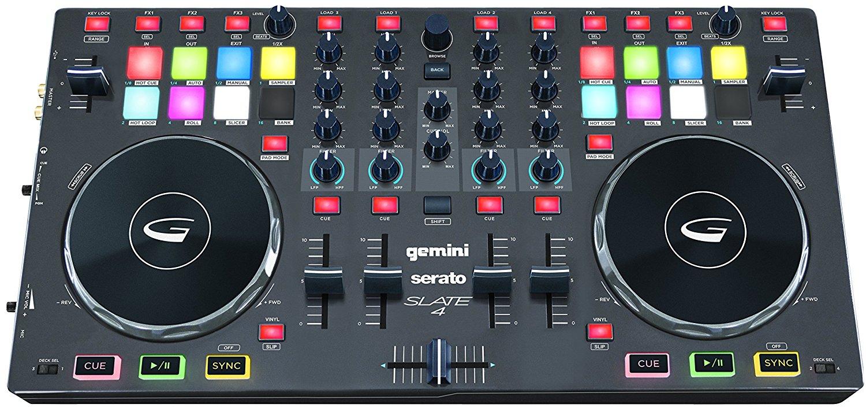 Gemini SLATE 4 4-Channel Serato DJ Intro Controller by Gemini