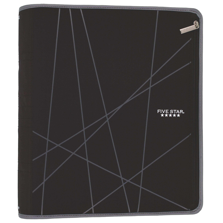 "Five Star Xpanz 2"" Zipper Binder, 380 Sheet Capacity, Assorted Colors (28655)"