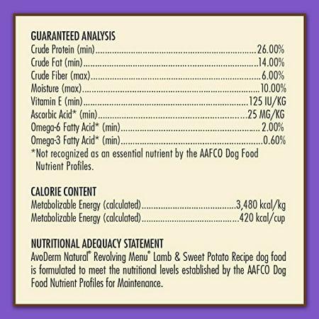 AvoDerm Revolving Menu Lamb & Sweet Potato Adult Dry Dog Foo