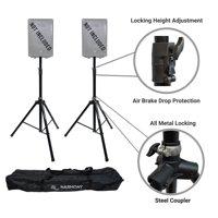 Harmony Audio A-DSBA Pro DJ Tripod Speaker Stand Pair Button Air Brake Lowering