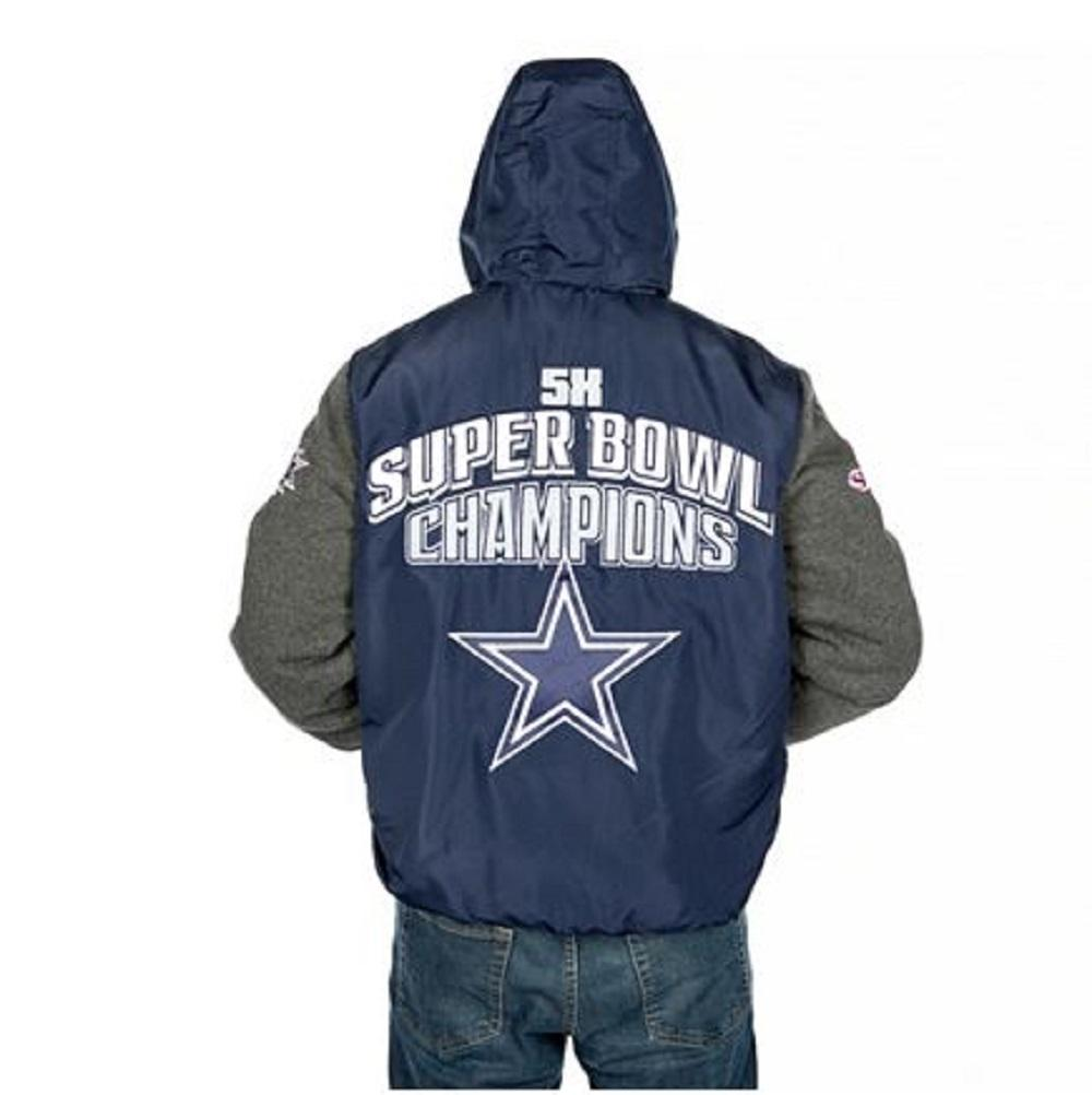 Dallas Cowboys Top Brass Men's Premium Varsity Jacket by Dallas Cowboys Merchandise