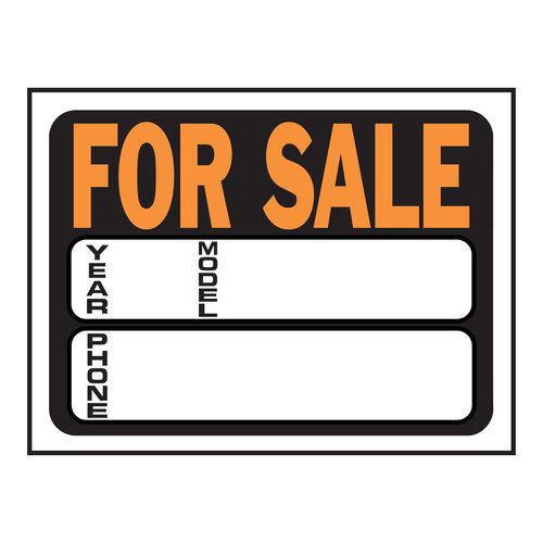 9X12 AUTO FOR SALE SIGN