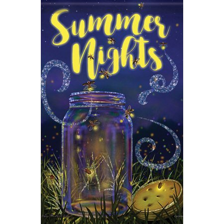 Night House Flag (Summer Night Lights House Flag Decorative Double Sided Banner 28