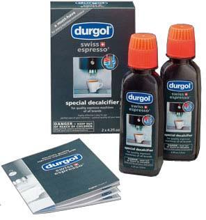 Set of 2 Durgol Swiss Espresso Machine Decalcifier//Descaler Solution