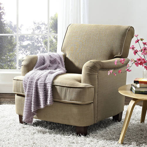 living room chairs walmart better homes and gardens grayson rolled top club chair 12011