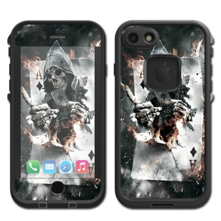 Skins Decals For Lifeproof Fre Iphone 7 Case / Ace Diamonds Grim Reeper Skull - Grim Reeper