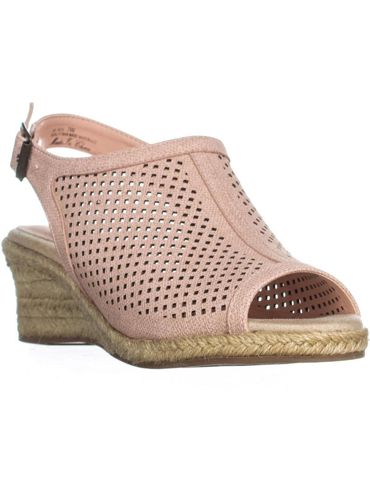 Womens Easy Street Stacy Espadrilles Sandals, Blush, 7 W US