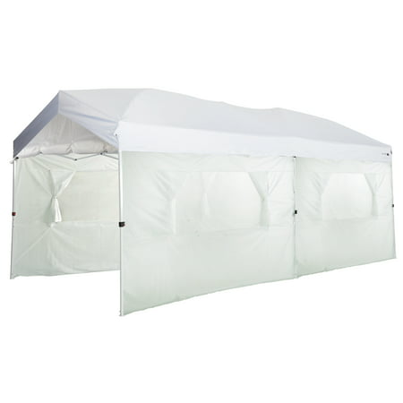 Ozark Trail 10x20 Straight Leg Instant Canopy - Includes Carry Bag, 6 Sidewalls, Stakes, and Tie Out Lines