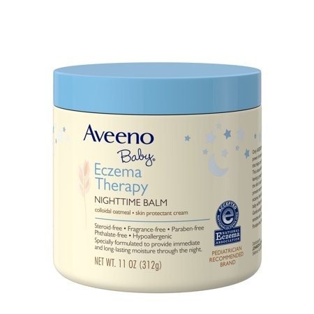 Aveeno Baby Eczema Therapy Nighttime Balm with Natural Oatmeal, 11 (Best Way To Treat Eczema On Babies)