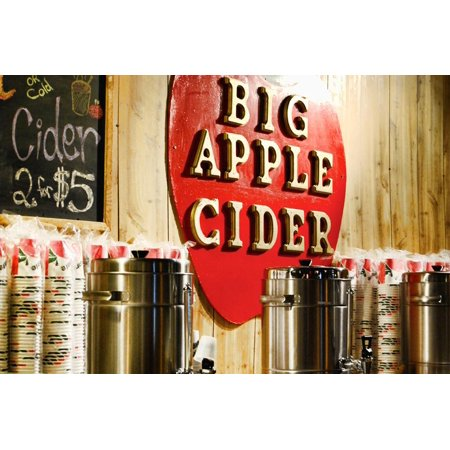 Big Apple Cider for Sale at the Christmas Market in Bryant Park, Print Wall Art By Sabine Jacobs ()