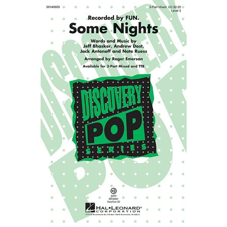 Hal Leonard Some Nights (Discovery Level 3) 3-Part Mixed arranged by Roger Emerson (Emerson Karaoke)