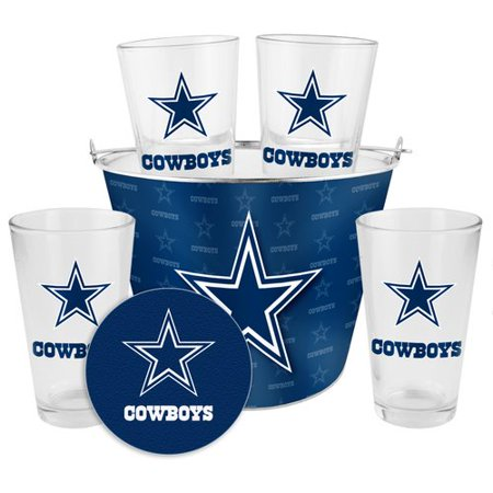Boelter Brands NFL Gift Bucket Set, Dallas Cowboys - Dallas Cowboys Bucket