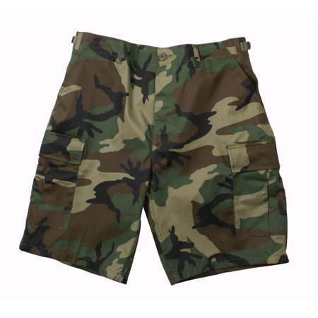 Woodland Camouflage Military Style BDU 100% Cotton Rip-Stop Shorts